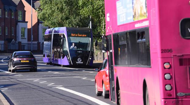 Buses came under attack for the second time in the west of the city. [File pic]