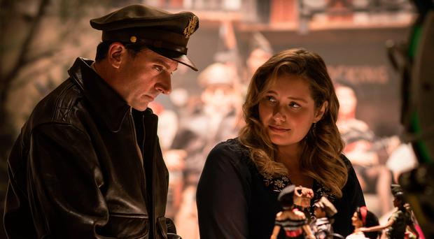 Role play: Steve Carell as Mark Hogancamp and Merritt Wever as Roberta in Welcome To Marwen