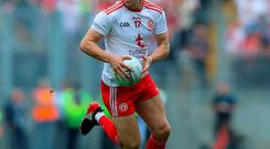 Aiming high: Lee Brennan will get the chance to impress Mickey Harte in the opposition's colours
