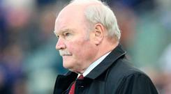 Time's up: Ronnie McFall was unable to steer the Glens out of choppy waters