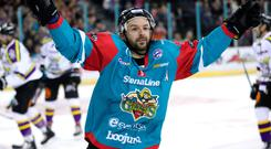 Top man: Colin Shields will set the new Giants appearance record