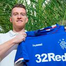 Getting shirty: Gers' Steven Davis