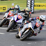 Hot wheels: Alastair Seeley, Peter Hickman and Michael Dunlop battle at the North West 200