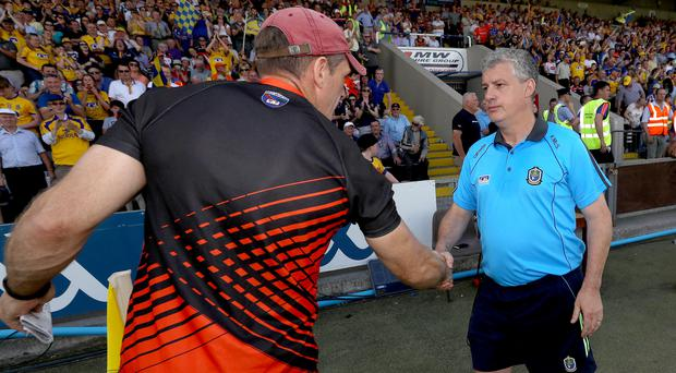 Great game: Armagh boss Kieran McGeeney (left) and Roscommon manager Kevin McStay