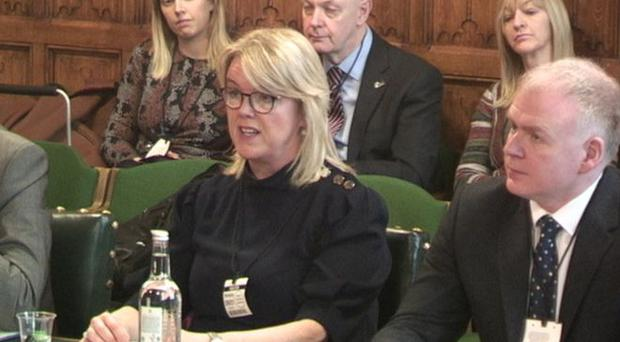 Geri Cameron giving evidence to the Northern Ireland Affairs Committee. Credit: House of Commons