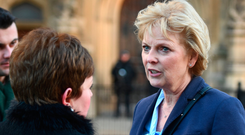 Anna Soubry arriving at Westminster after suffering Nazi taunts