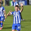 Brad Lyons has waved goodbye to Coleraine.