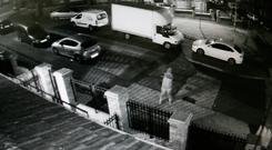 CCTV footage showing the shooting