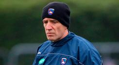 On the up: Kieran McGeeney is sure his Armagh side are moving in the right direction ahead of tomorrow's McKenna Cup clash with Donegal