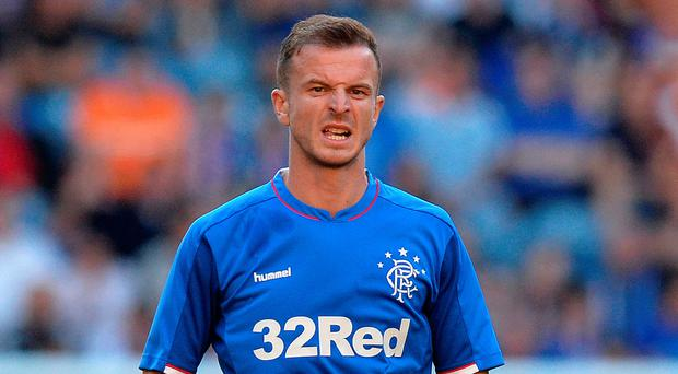 Huge moment: Andy Halliday played big role in Old Firm win