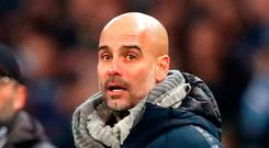 Battle: Manchester City boss Pep Guardiola is relishing title run-in