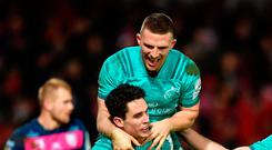 Get in: Joey Carbery and Andrew Conway celebrate