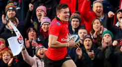 Jacob Stockdale scored two tries to keep his stunning European run going.
