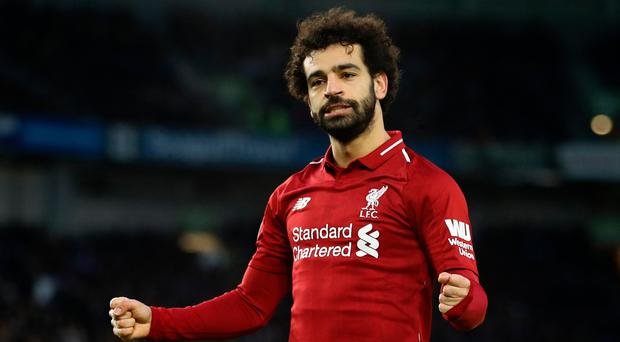 Mohamed Salah netted a penalty that he won himself at Brighton.