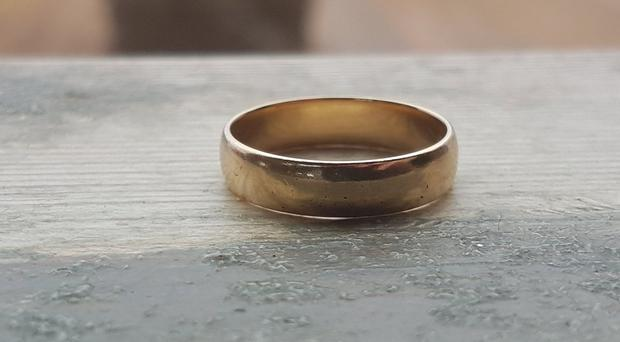 The wedding ring. Credit: Harry's Shack.