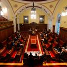 The council chamber at Belfast City Hall
