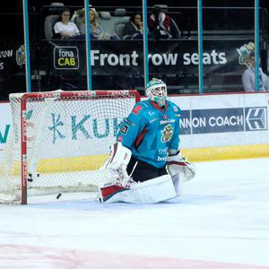Killer blow: Belfast Giants' Tyler Beskorowany can't stop Arlan Kokshetau's Yevgeni Gasnikov from scoring the winning penalty