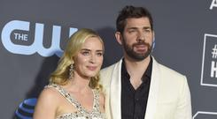 John Krasinski called wife Emily Blunt 'the love of my life' in an emotional acceptance speech (Jordan Strauss/Invision/AP)