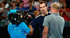 Andy Murray says he wants to play against after producing an amazing display in his Australian Open exit.