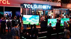 8K TVs at last week's Consumer Electronics Show in Las Vegas