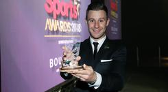 Sports Star of the Year Jonathan Rea shows off his award.