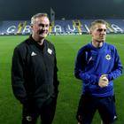 Northern Ireland manager Michael O'Neill and captain Steven Davis.