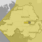A yellow weather warning has been issued for Northern Ireland. Credit: Met Office.