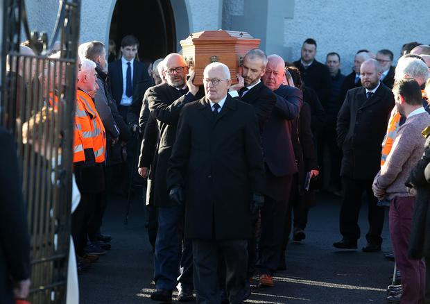The funeral of south Armagh man Sean Byrne who died in an accident in the Mourne Mountains. Picture: Pacemaker Belfast.