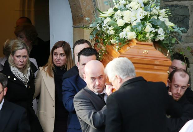 Funeral of Robert Robinson at Holy Trinity Church in Banbridge. Picture by Jonathan Porter/PressEye