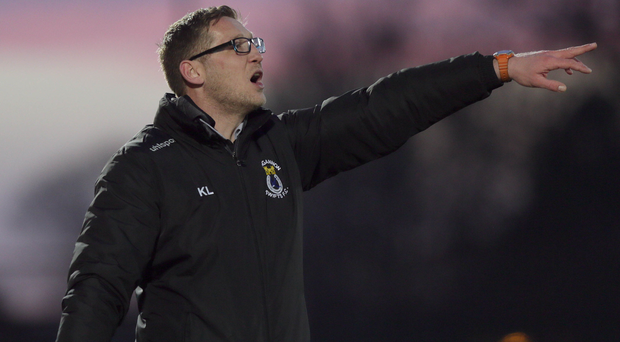 Swift progress: Kris Lindsay has made a smooth transition into the manager's seat at Dungannon