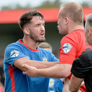 Reunion: Josh Robinson and Jordan Owens clash at Seaview in August