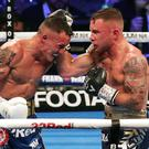 Sore point: Carl Frampton loses to Josh Warrington