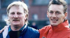 Happy memories: Roy McDonald with his late brother Alan
