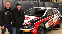 Dream team: Tyrone's Aaron Johnston and teenager star Oliver Solberg are set for their debut on snowy Rally Aluksne in Latvia