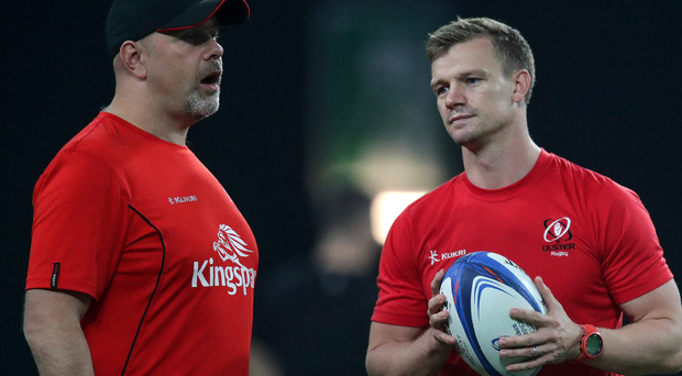 Dwayne Peel (right) and Ulster head coach Dan McFarland will be hoping their boys can seal their own European fate on Saturday afternoon.
