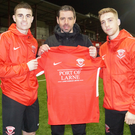 Larne manager Tiernan Lynch welcomes loan signings Dominic Tear and Isaac Marriott to Inver Park.