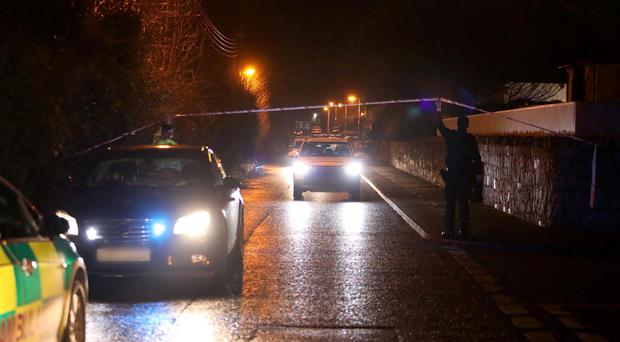 Police at the scene of a shooting in Warrenpoint, Co Down after one man was shot dead. Photo by Press Eye.