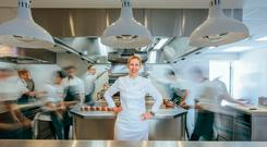 Clare Smyth in her Notting Hill restaurant Core, which has already won two Michelin stars