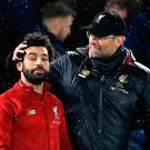 Safe hands: Jurgen Klopp and Mohamed Salah