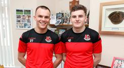 Family pride: Rory (left) and Ronan Hale gunning for Blues