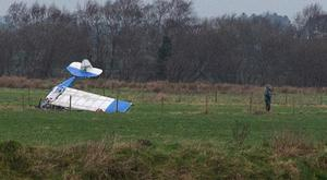 The light aircraft crashed on the runway at Causeway Airfield near Coleraine. Pic Matt Steele/McAuley Multimedia