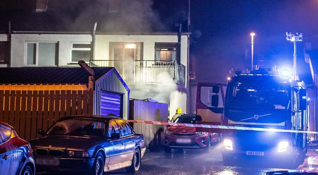 Firefighters were call to the scene of the blaze in the Long Commons area in Coleraine. PICTURE MATT STEELE/MCAULEY MULTIMEDIA