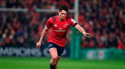 Ice cool: Munster's Joey Carbery lines up a kick in the European Challenge Cup match in Limerick