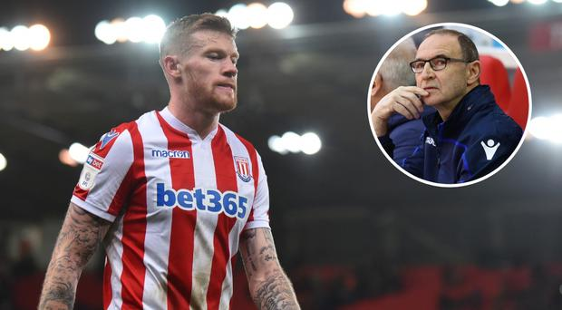James McClean could become one of Martin O'Neill (inset)'s first signings at Nottingham Forest.