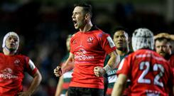 Ulster's John Cooney celebrates at the final whistle.