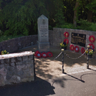 The war memorial at Main Street, Loughgall. Credit: Google.