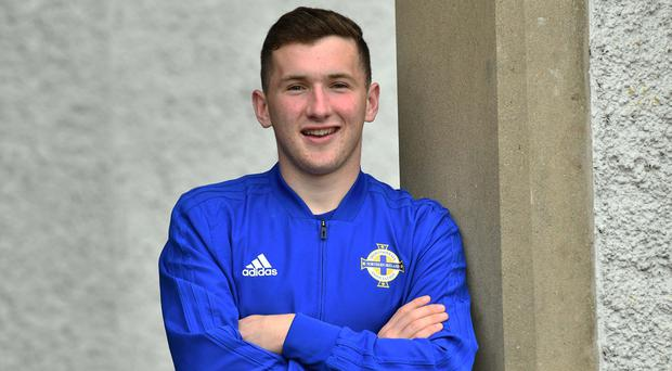 Northern Ireland Under 21 international Bobby Burns.