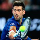 Fast pace: Novak Djokovic is feeling the effects in Australia