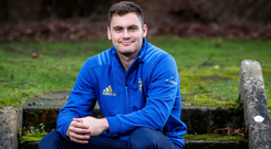 Looking up: Leinster ace Conor O'Brien is determined to seize his opportunity with Robbie Henshaw on Ireland duty