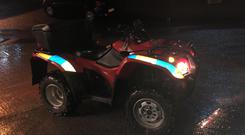 The quad used by police. Credit: PSNI.